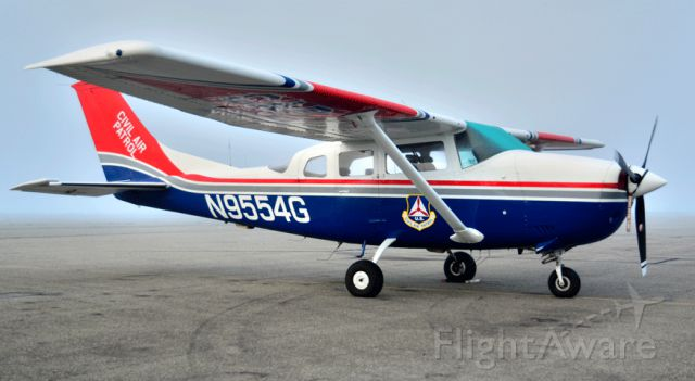 Cessna 206 Stationair (N9554G) - CAP Cessna sitting on the ramp at the Merced Regional Airport