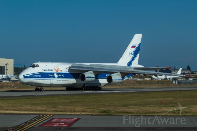 Antonov An-12 (RA-82047) - This AN-124-100 lands at Paine Field to deliver aircraft engines to Boeing.