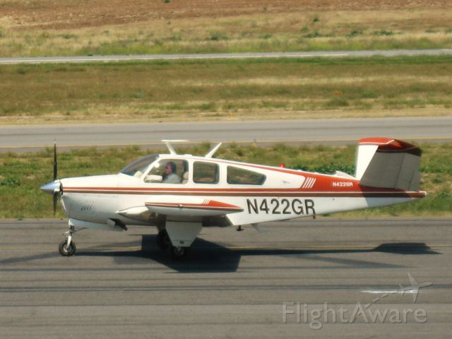 Beechcraft 35 Bonanza (N422GR) - TAXIING AT RIVERSIDE MUNI