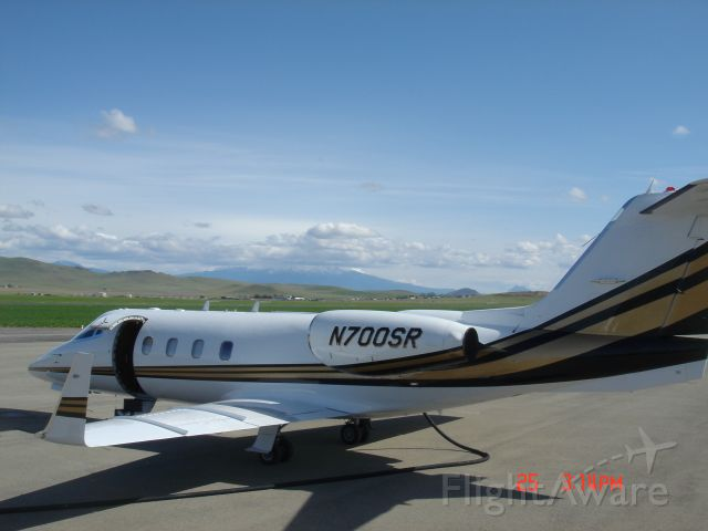 Learjet 55 (N700SR) - At Montague Siskiyou County Airport, Calif.