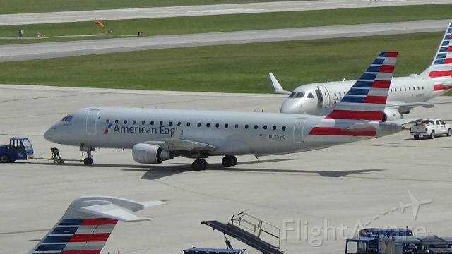 Embraer 175 (N125HQ) - An American Eagle ERJ-175 getting pushed backed at Omaha. Date - July 4, 2020