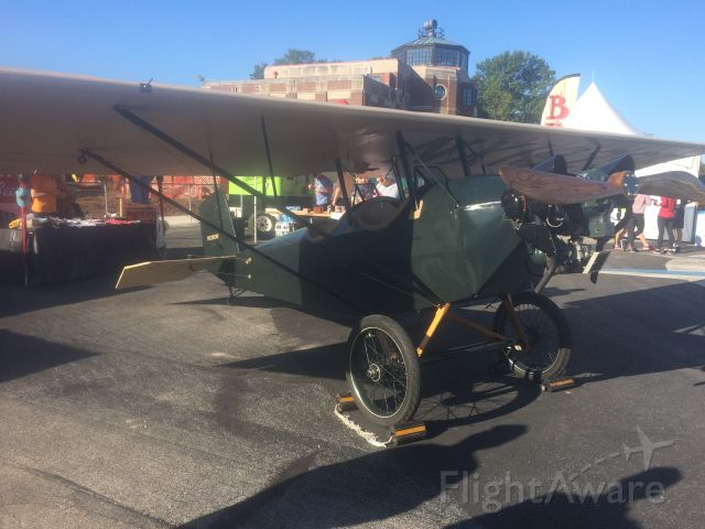 NX1929F — - Air show at Bowman Field in Louisville, KY, standing on tarmac.  Did not get identification on plane.  I was especially interested in the tail wheel controls.