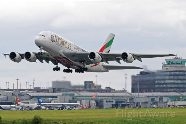 Airbus A380-800 (A6-EES) - Emirates 22 on the way back to Dubai.