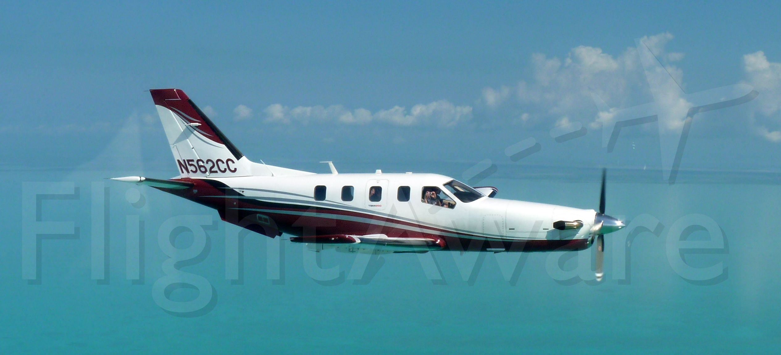 Socata TBM-850 (N562CC) - On the way to the Private Island of Ambergris Cay in the Turks and Caicos