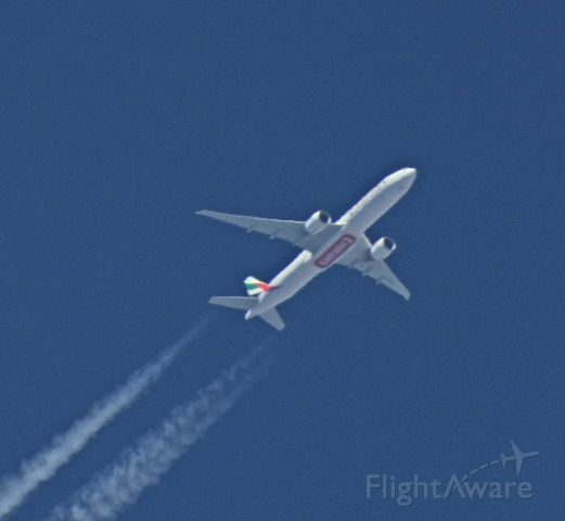 BOEING 777-300ER (N2559) - Passing by Carson City, NV on the way to LAX