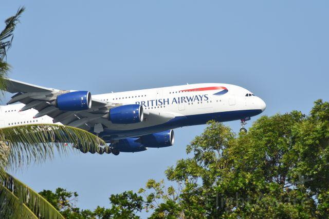Airbus A380-800 (G-XLEF) - Arrival, British Airways, RWY 20R, Changi, Singapore. 8 Sep 2019.