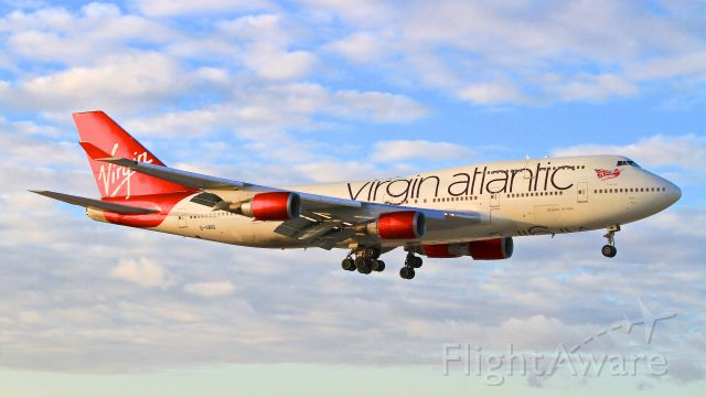 Boeing 747-400 (G-VBIG) - Late afternoon arrival to Rwy 9