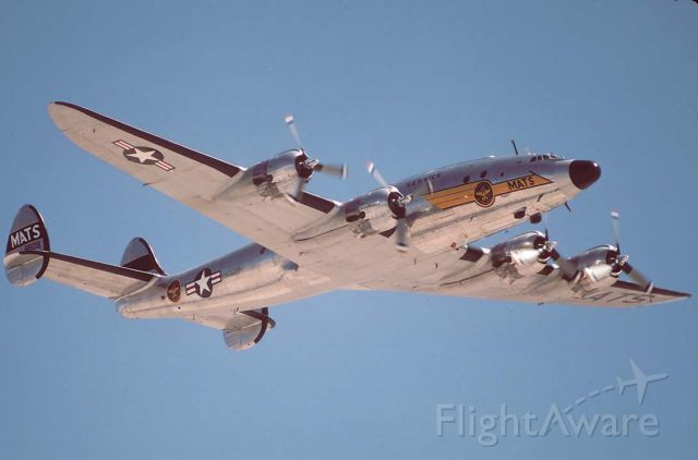 N494TW — - Lockheed C-121A Constellation N494TW at the Nellis AFB Golden Air Tattoo on April 26, 1997.