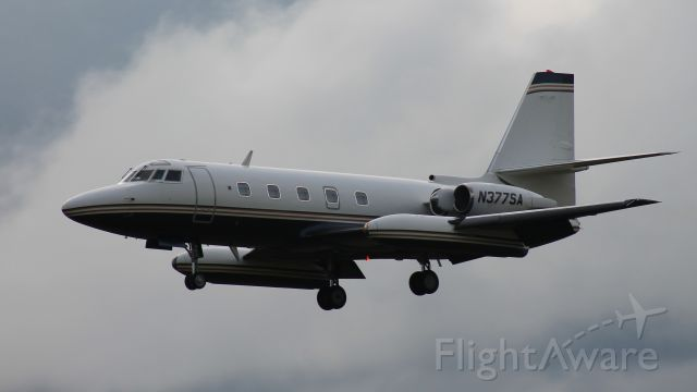 Lockheed Jetstar 2 (N377SA) - Very happy to have caught this! Arriving on  Runway 18.
