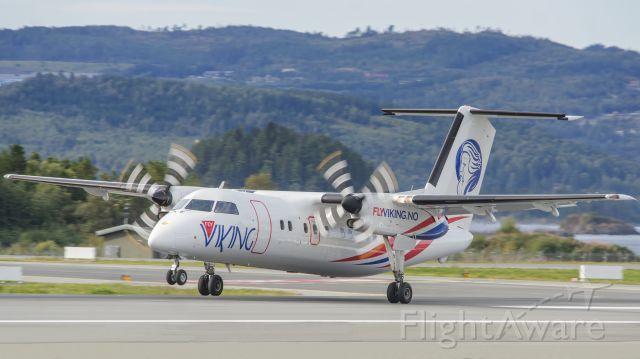 de Havilland Dash 8-100 (LN-FVA) - First visit