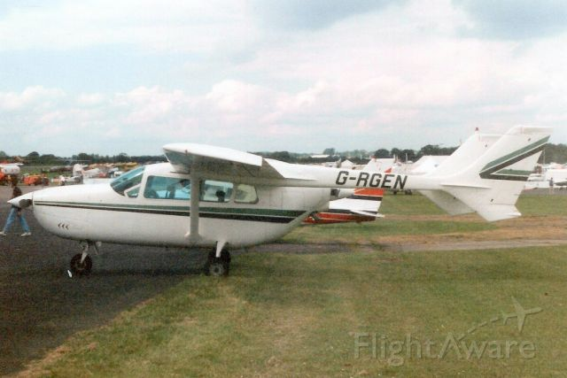 Cessna Super Skymaster (G-RGEN) - Seen here in May-98.<br /><br />Transferred to Ukraine 6-Jul-09 as UR-SWE.