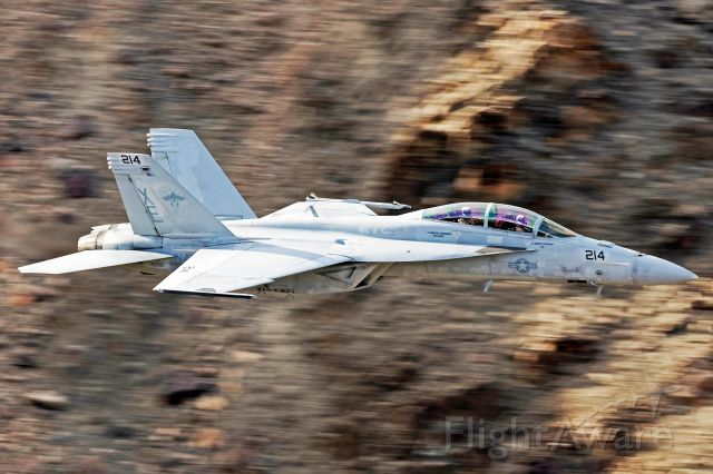 """McDonnell Douglas FA-18 Hornet — - This Super Hornet of the U.S. Navy VX-9 """"Vampires"""" taken in Death Valley National Park during March 2018 while on a training exercise"""