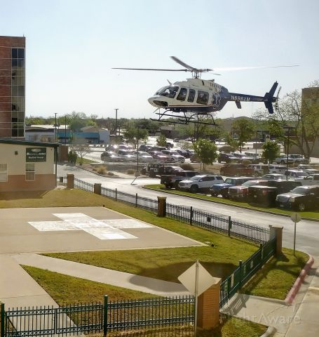 Bell 407 (N696AM) - Landing at Shannon Downtown San Angelo, Texas.