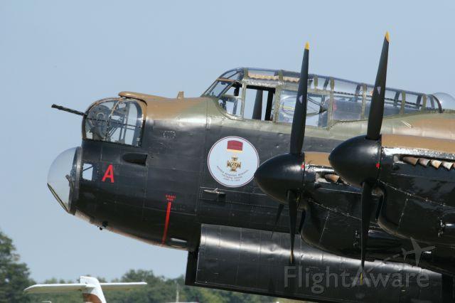 Avro 683 Lancaster (C-GVRA) - Close up of the cockpit section of the Mynarski Memorial Lancaster.