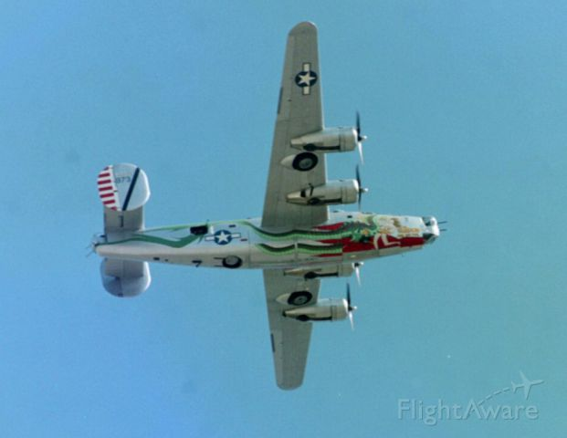 """Consolidated B-24 Liberator (NX224J) - """"Dragon and His Tail"""" B-24 in 2003 -- later redone as """"Witchcraft""""."""