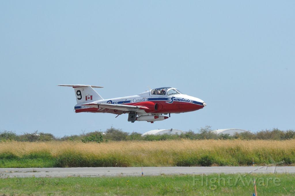 — — - Snowbirds flying their Canadair Tudor CT-114 debuts at the Boundary Bay Airshow