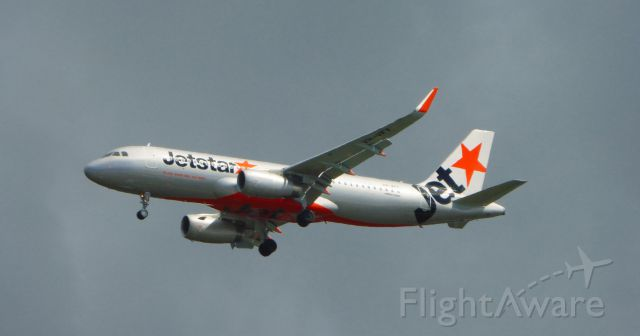 VH-VFY — - Jetstar A320 on approach to Queensland Airport.