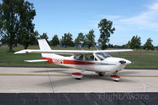 Cessna Cardinal (N110PF) - A new home at Willow Run.