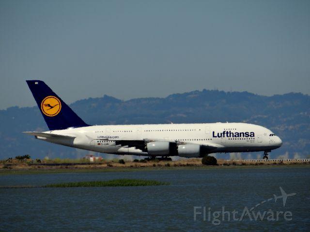 Airbus A380-800 (D-AIMH) - Lufthansa A380 at SFO