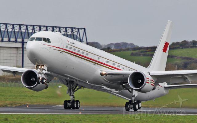 BOEING 767-400 (A9C-HMH) - bahrain amiri flight b767-4 a9c-hmh dep shannon for tampa 15/4/16.