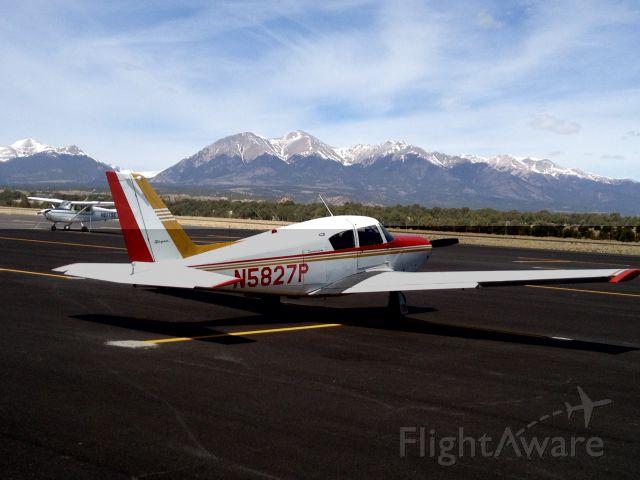 Piper PA-24 Comanche (N5827P) - Salida, CO April 2012 Collegiate Peaks in background