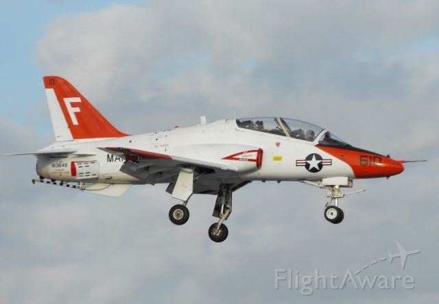 Boeing Goshawk (16-3649) - USMC T-45C over the numbers for RWY 18