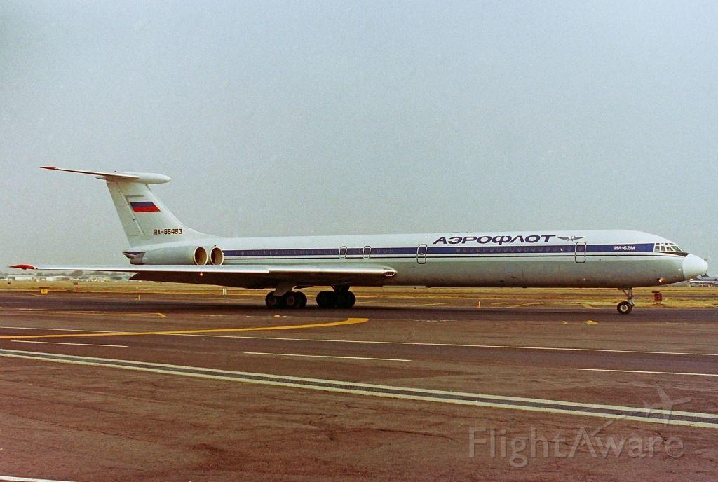 Ilyushin Il-62 (RA-86483) - Aeroflot /  Ilyushin Il-62M C/N 2829637 / RA-86483 / MMMX 1992