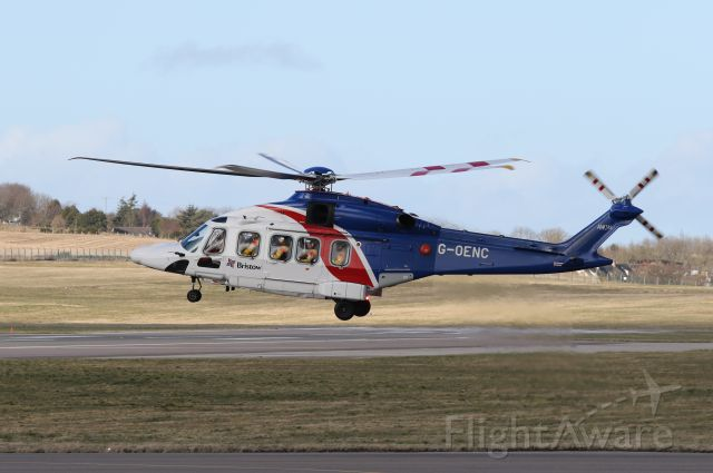 AgustaWestland AW189 (G-OENC) - Bristow AW189 landing at ABZ on Wednesday 11th March 2020