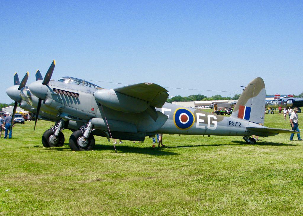 De Havilland Mosquito (N35MK) - At AirVenture 2016.