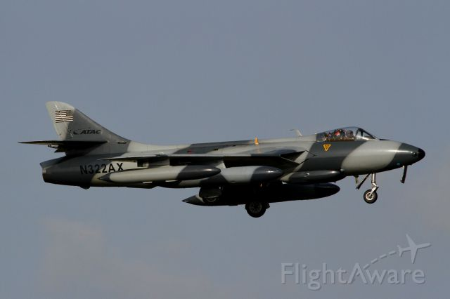 N322AX — - ATAC(Airborne Tactical Advantage Company) - Hawker Hunter F58