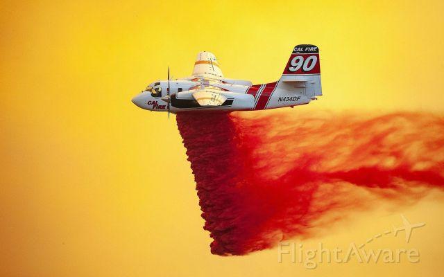 N434DF — - T90 drop on L NU lightning fire.