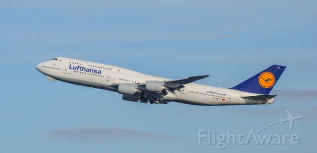 BOEING 747-8 (D-ABYJ) - Shot with a Nikon D3200 w/ Nikkor 70-300mm<br />Best viewed in Full Size