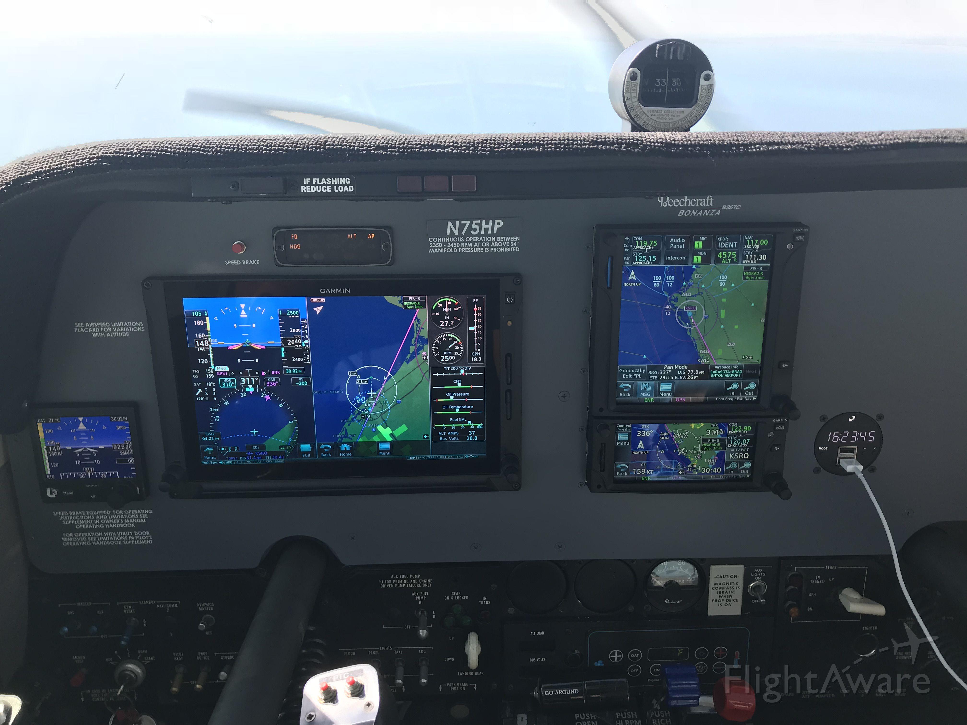 Beechcraft Bonanza (N75HP) - Sarasota Avionics rocks!