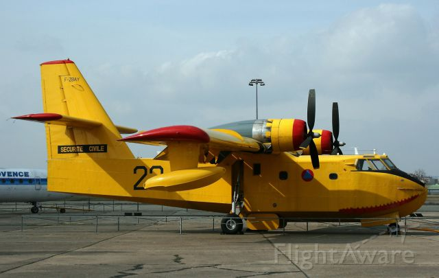 F-ZBAY — - Canadair CL-215, registered F-ZBAY, Museum of Aviation and Space  Le Bourget (LFPB)