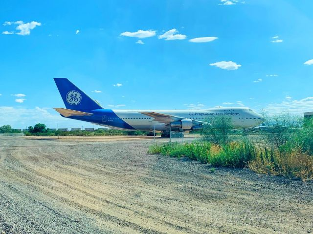 Boeing 747-200 (N747GE) - GE propulsion test platform at Pima Air Museum in Tucson AZ.