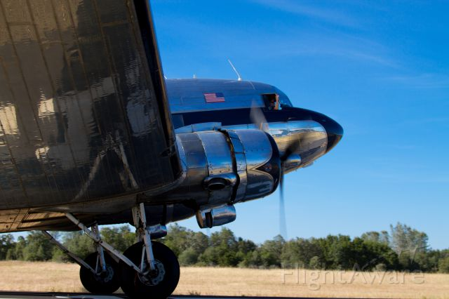 """Douglas DC-3 (N341A) - N341A flew into Auburn muni for the first """"Friday Flydays"""" event of the season. This is a wonderful example of a very well maintained DC3!"""