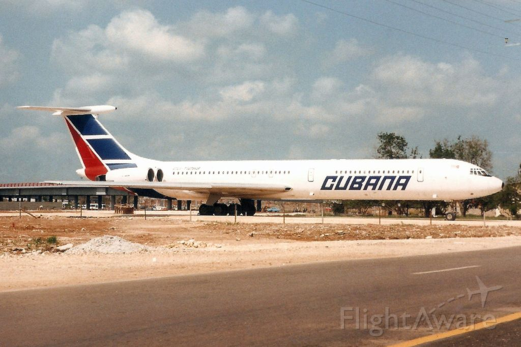 Ilyushin Il-62 (CUT1259) - Seen here on 8-May-98.<br /><br />With Cubana from Jul-84 to Mar-98.<br />Broken up at MUHA.