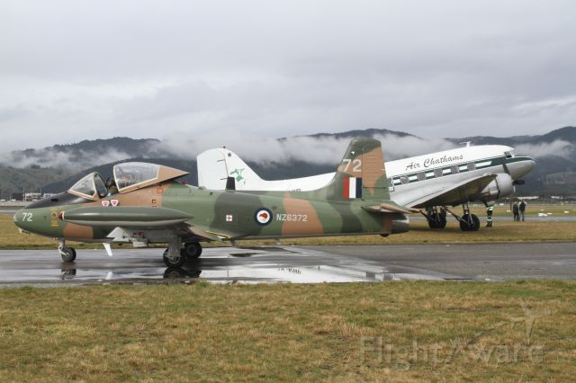 HUNTING PERCIVAL P-84 Jet Provost (ZK-BAC) - Two classics of the skies!