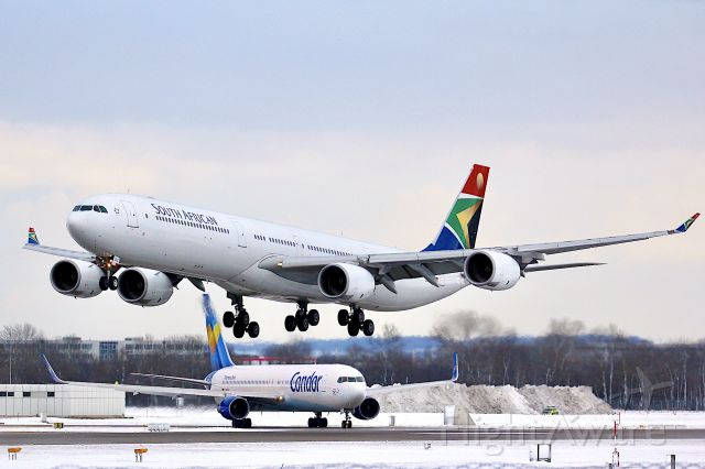 Airbus A340-600 (ZS-SNE)