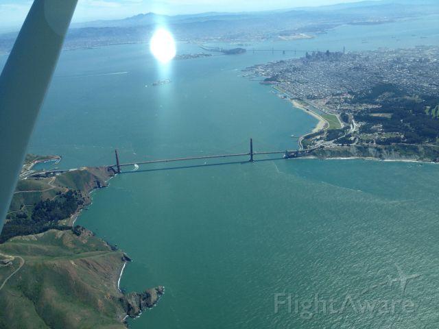 Cessna Skyhawk (N8923V) - Golden Gate Bridge , 7500 ft 2 NMR south