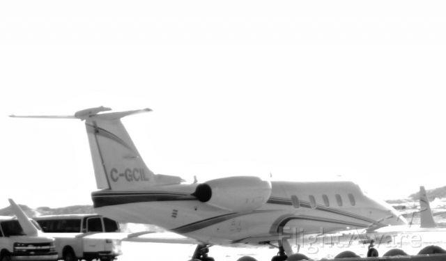 Learjet 55 (C-GCIL) - Sunny Day in Iqaluit, Nunavut but cold. Feb. 23, 2016
