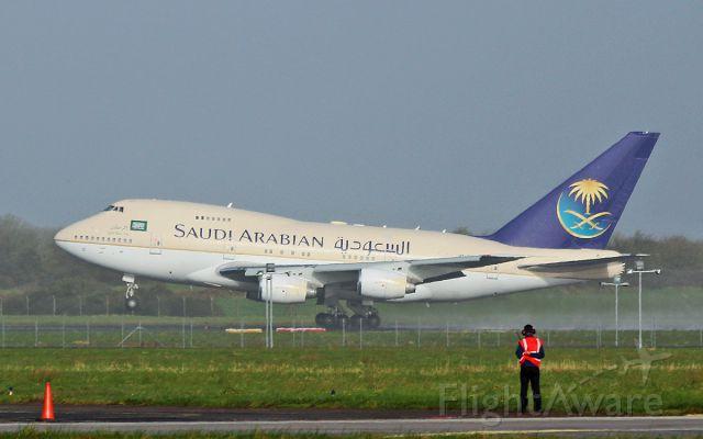 Boeing 747-200 (HZHM1C) - saudi royal flight b747sp-68 hz-hm1c dep shannon for the us 13/3/17.