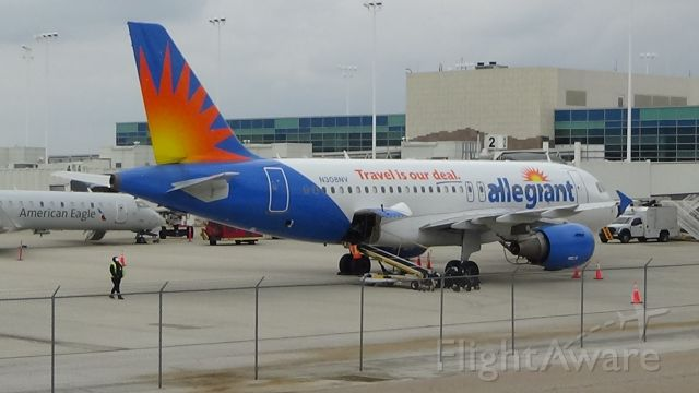 Airbus A319 (N308NV) - Sunny Allegiant A319 at cloudy Springfield, MO!  Date - April 17, 2021