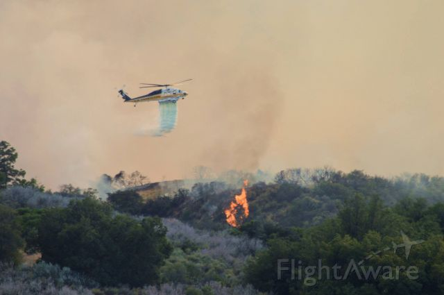 N15LA — - LA County Fire Dept. water drop on a fire in Topanga Canyon June 2016