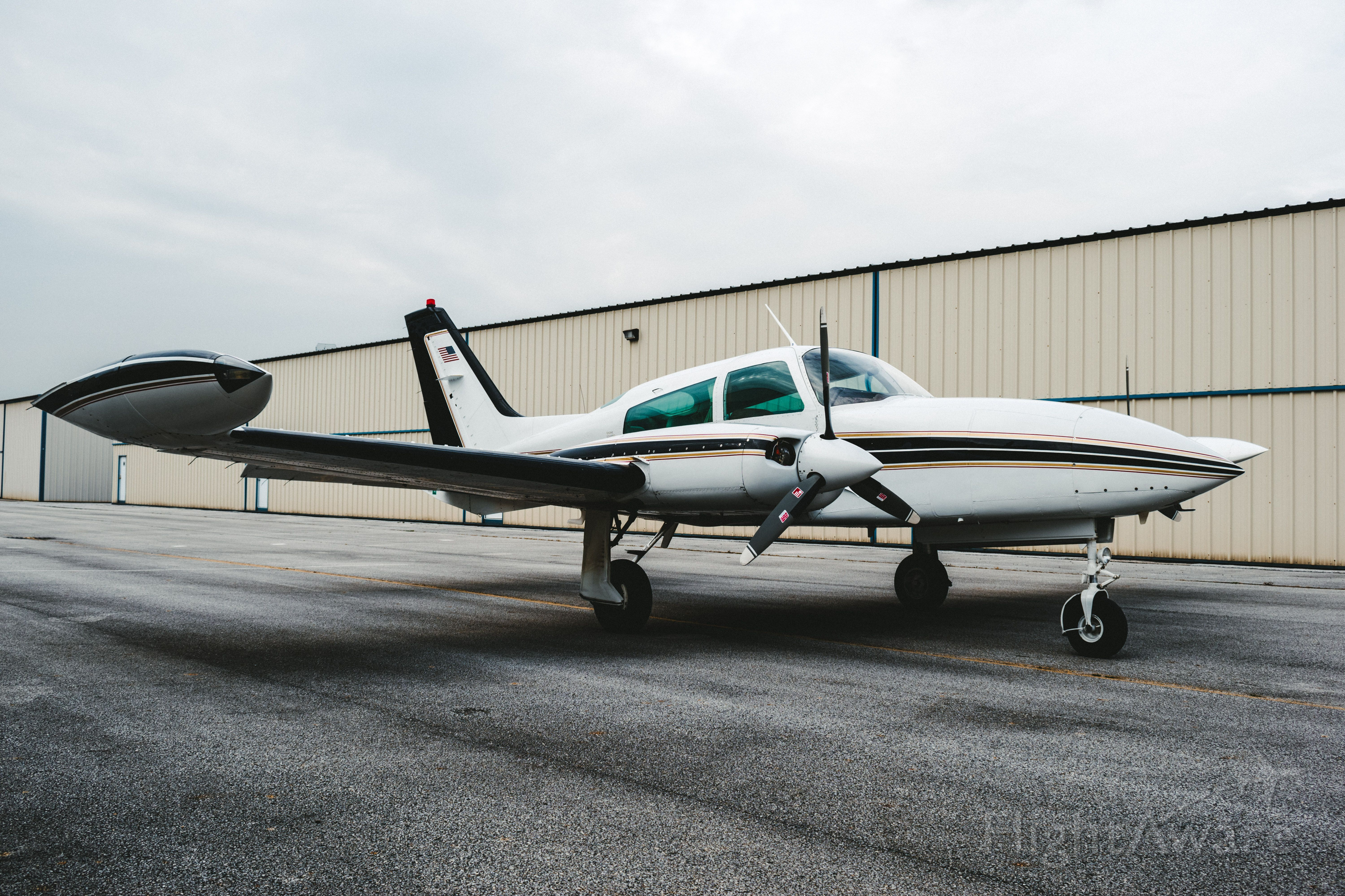 Cessna 310 (N300EB) - Plane pulled out and ready to go!