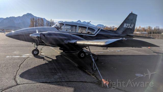 Piper Apache (N25JF) - Tie-down yard, Palmer Municipal Airport AK