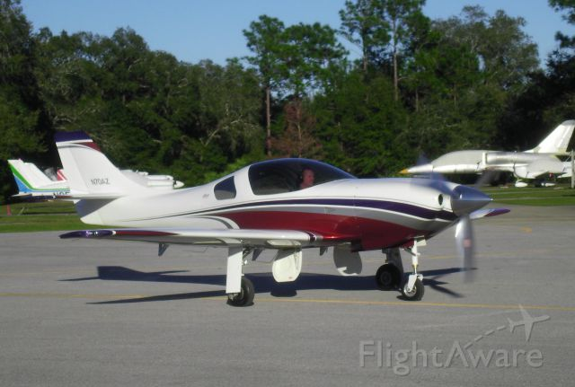 Lancair Legacy 2000 (N70AZ) - N70AZ arriving at Spruce Creek, Florida after flying nonstop from Lone Star Executive Airport (KCXO).