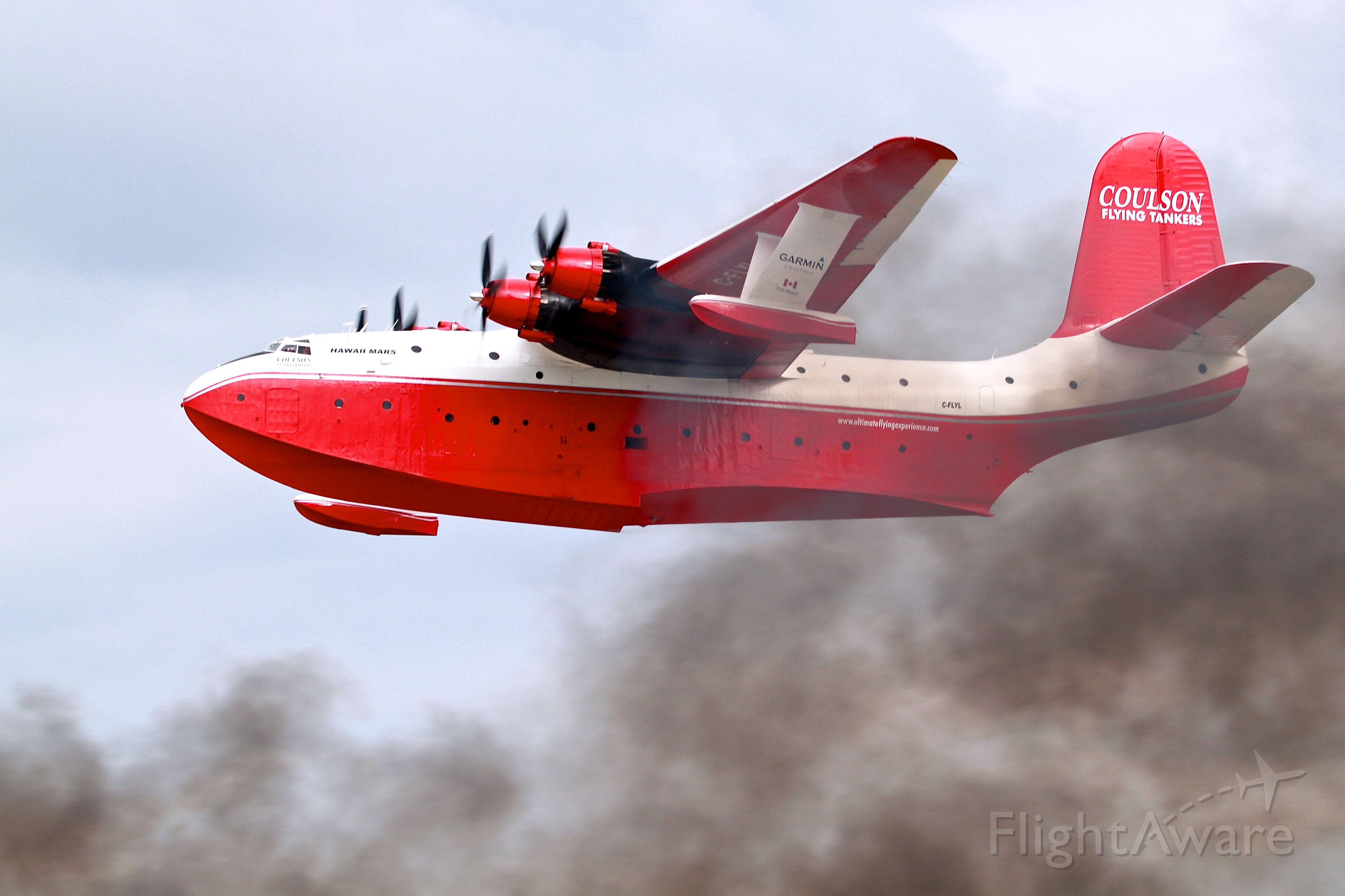 MARTIN Mars (C-FLYL) - Martin Mars waterbomber flyby at Oshkosh on Friday