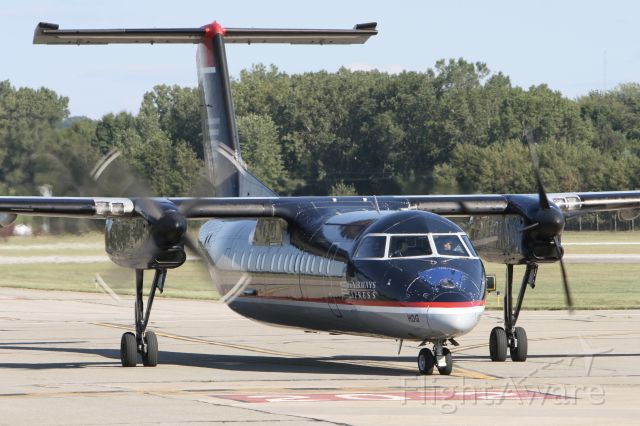 de Havilland Dash 8-300 (N329EN) - August 27, 2010 - arrived at Erie, PA