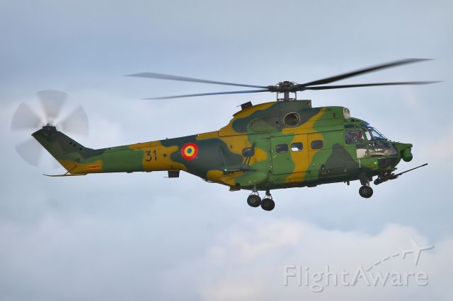 0031 — - The IAR 330 is the Romanian-built version of the Aérospatiale SA 330 Puma helicopter. NATO Days 2019.